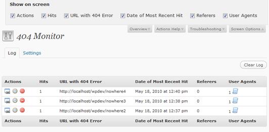 SEO Ultimate 2.1 404 Monitor