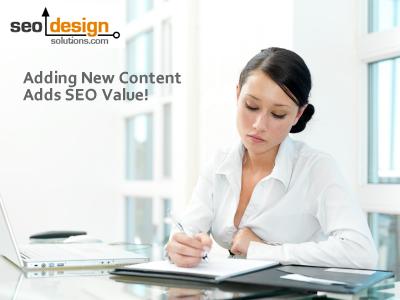 Adding Content Adds SEO Value
