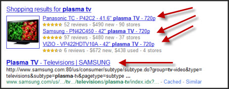blended search results