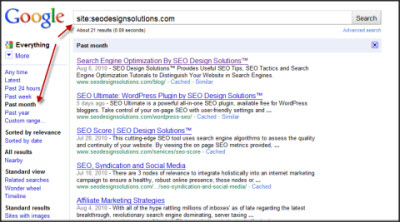 Assess Indexation from Google